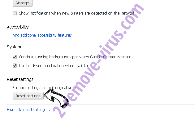 Apple Warning Alert Virus Chrome advanced menu