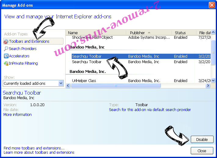 PC Support Center Adware IE toolbars and extensions