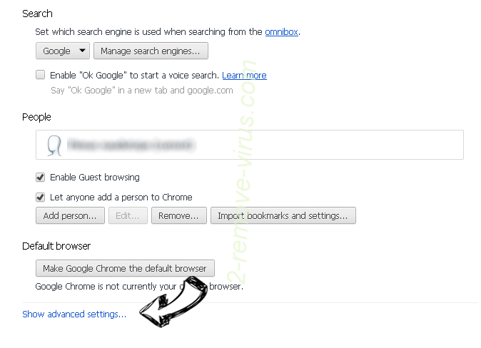 Search.wharkike.com Chrome settings more