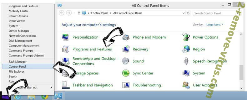 Delete Search.huniversalconverter.co redirect virus from Windows 8