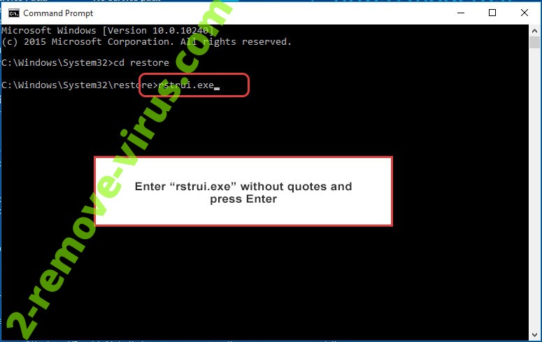 Delete Kostya Virus - command prompt restore execute