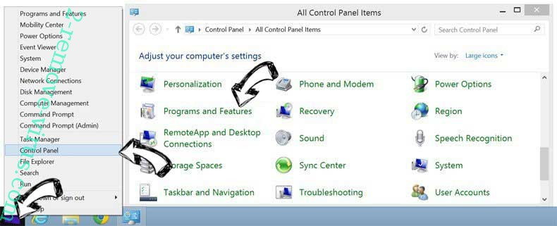 Delete PC Protector Plus from Windows 8