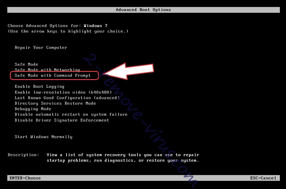 Remove Win32:Malware-gen - boot options