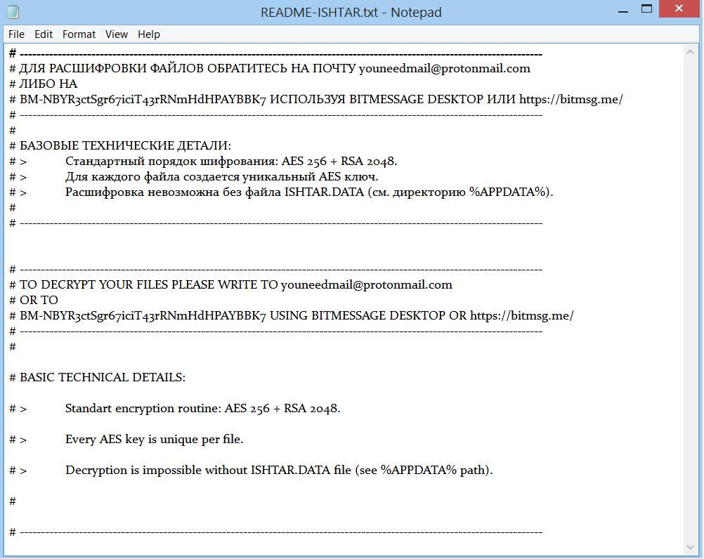 ISHTAR Ransomware