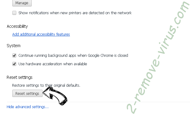 Searchgoog.ru Chrome advanced menu