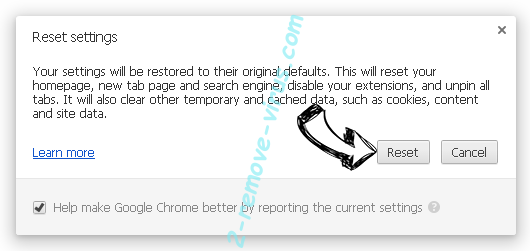 Удаление Pronto Baron search Chrome reset