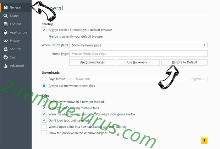 Mystart Search Virus Firefox reset confirm