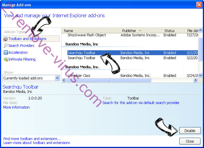 Search.searchleasy.com Virus IE toolbars and extensions