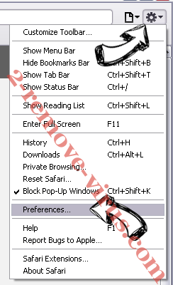 Search.searchleasy.com Virus Safari menu