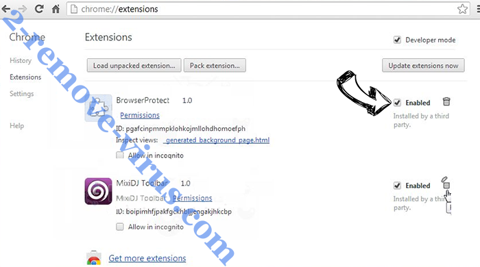 Search fort pro Adware Chrome extensions disable