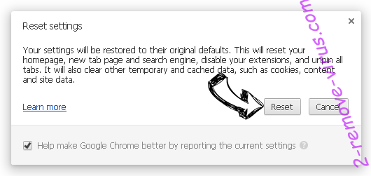 Cashiopeia.com Chrome reset