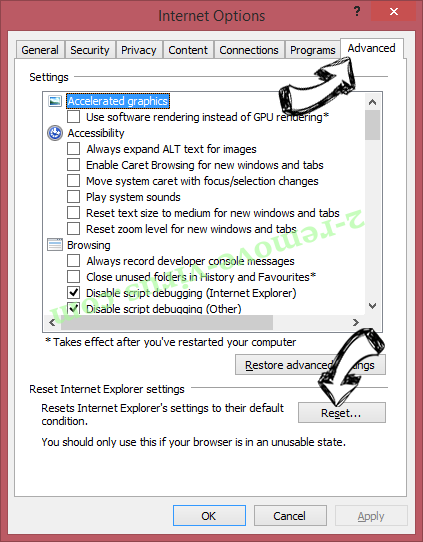 Search fort pro Adware IE reset browser