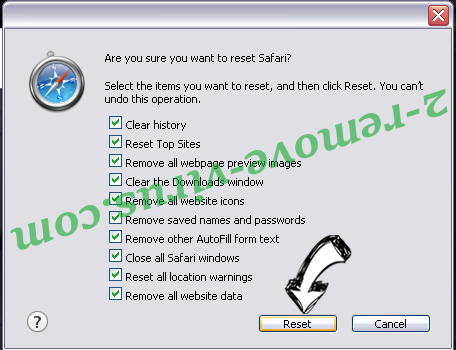 Search fort pro Adware Safari reset