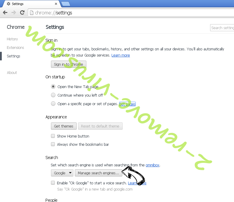 Becausaldevel.info Chrome extensions disable