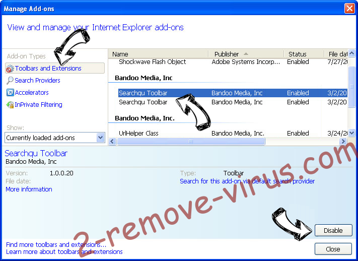 MicroLeaves virus IE toolbars and extensions