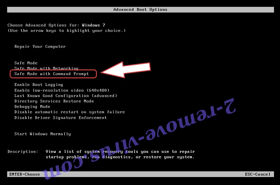 Remove NMoreira Ransomware - boot options