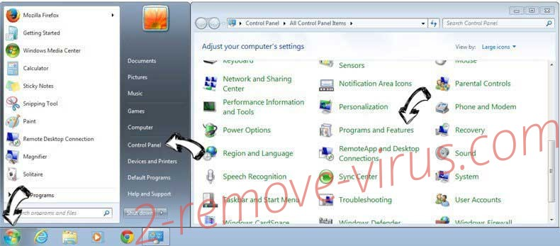Uninstall HowToBleases.xyz from Windows 7