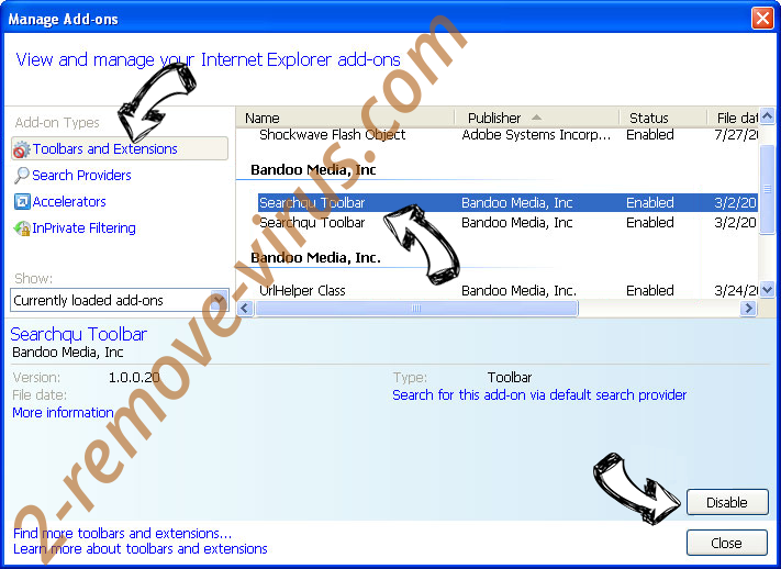 Jp.salbin.com IE toolbars and extensions