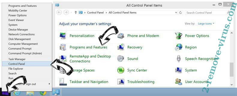 Delete Event Monitor by SYS SECURE PC SOFTWARE from Windows 8