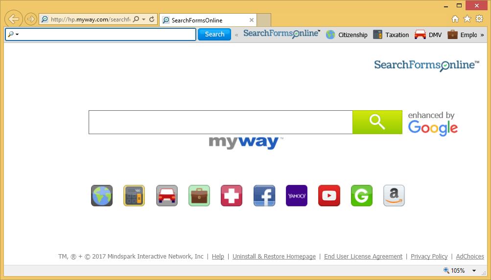 SearchFormsOnline Toolbar