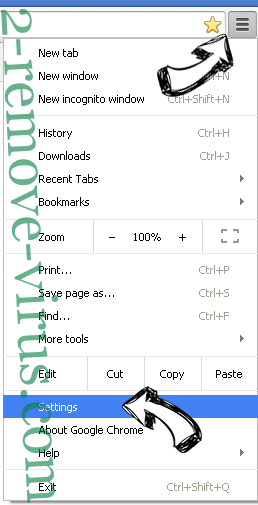 StartPageing123.com Chrome menu