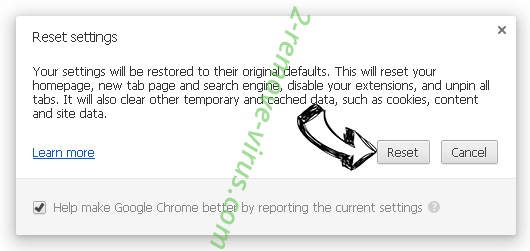 Untrack Search Chrome reset