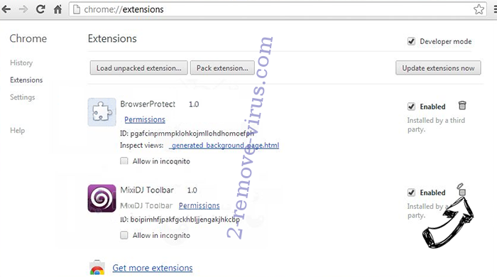 Search.searchtpn.com Chrome extensions remove