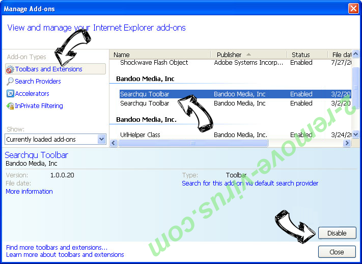 Search.searchtpn.com IE toolbars and extensions