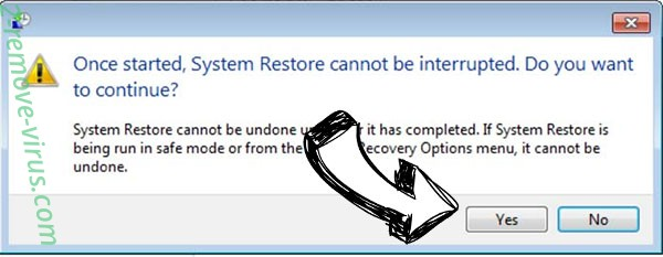 Command Prompt Virus removal - restore message