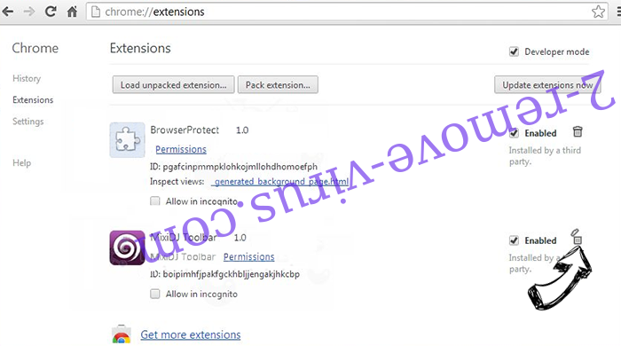 DefendSearch.com Chrome extensions remove