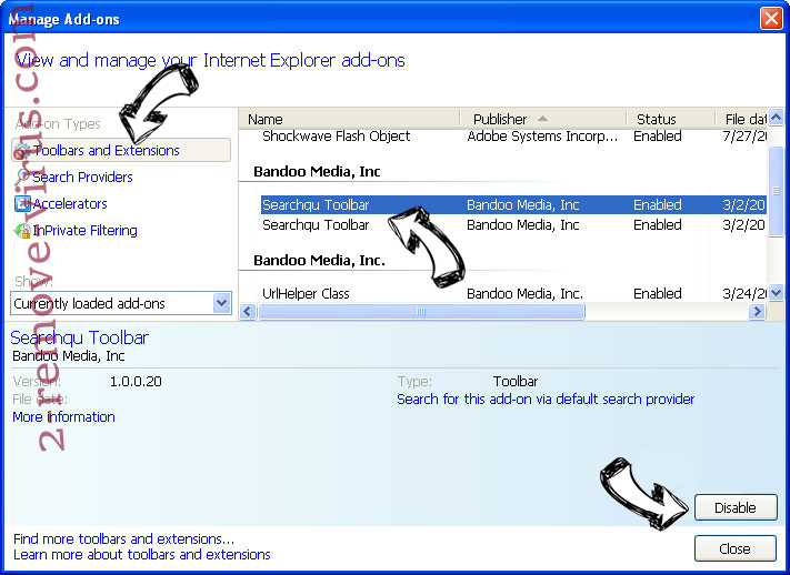 Blasearch.com IE toolbars and extensions
