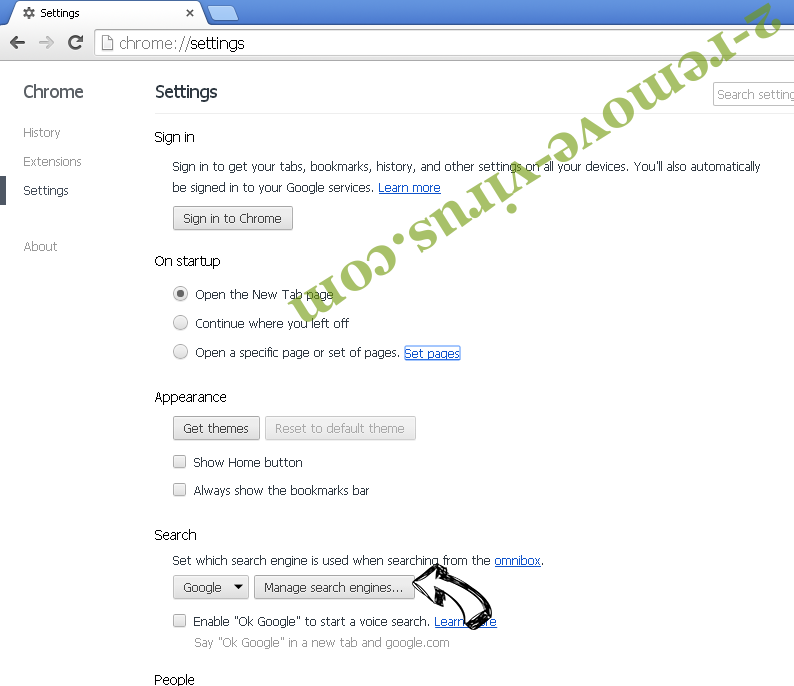 Chromesearch.info Chrome extensions disable