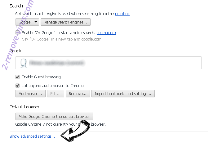 Chromesearch.info Chrome settings more
