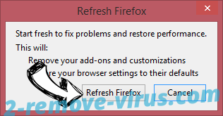 Chromesearch.info Firefox reset confirm