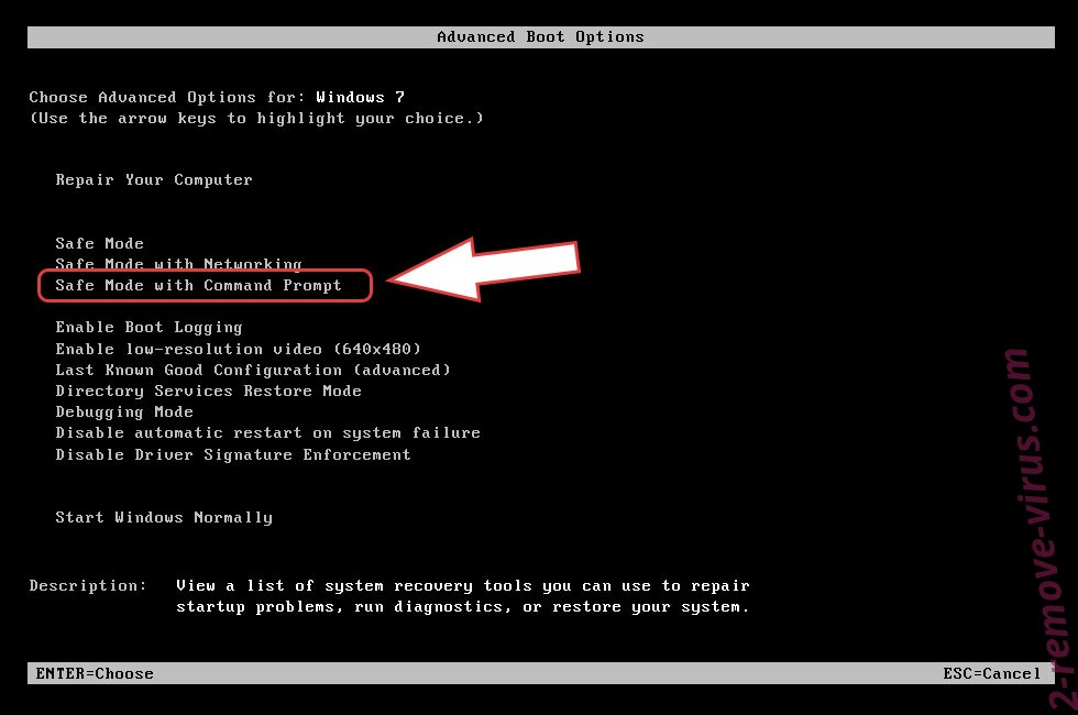 Remove Aes256 Ransomware - boot options