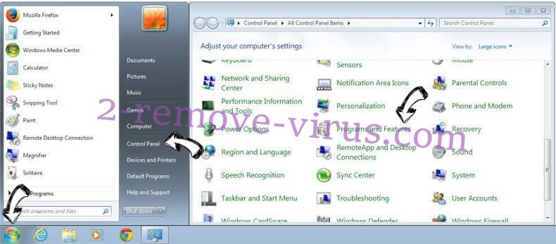 Uninstall Trojan.multi.proxy.changer.gen from Windows 7