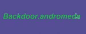 Remove Backdoor.andromeda