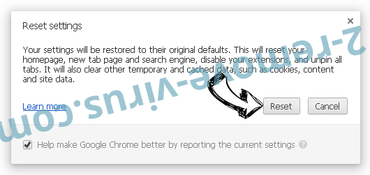 Searchzweb.com Chrome reset