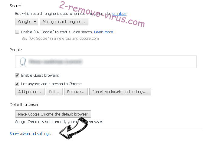 search.mecoosh.com Chrome settings more