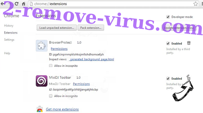Digital Coin Tracker Virus Chrome extensions remove