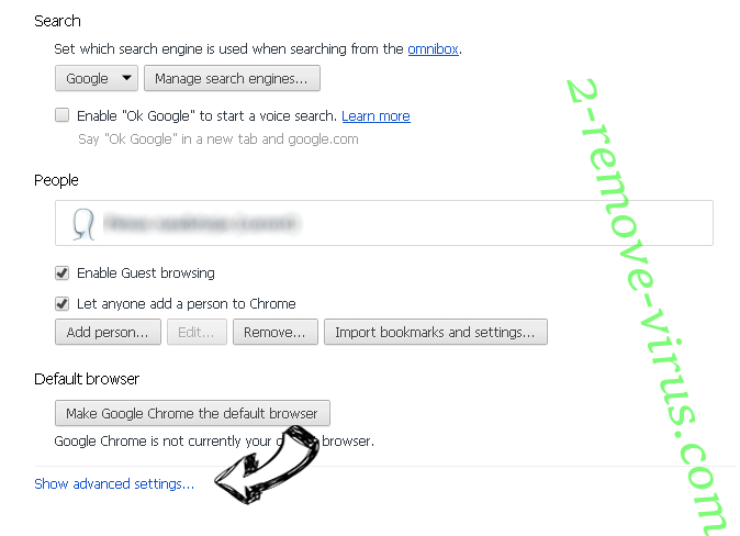 Searchbuw.ru Chrome settings more