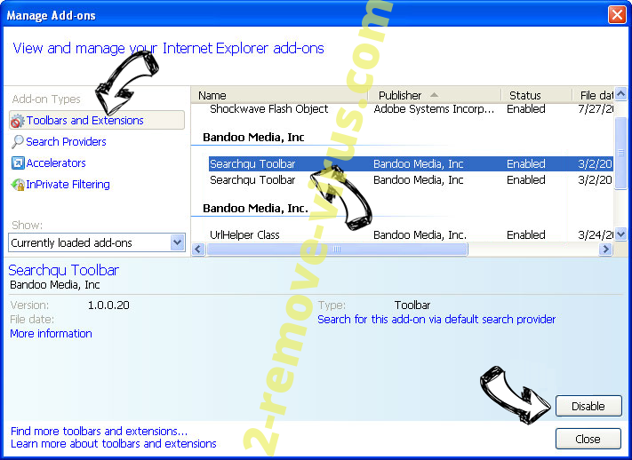 Yotosearch.com IE toolbars and extensions