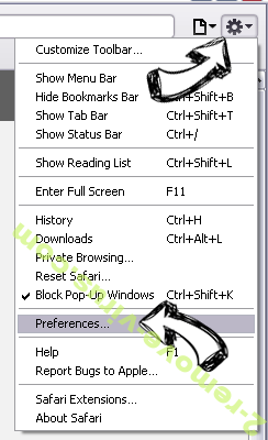 ProxyGate Safari menu