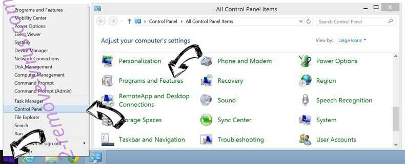 Delete SmartApp Adware from Windows 8