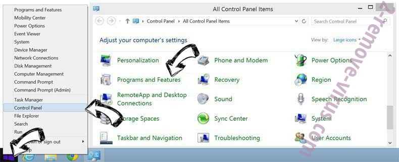 Delete Services.searchtabnew.com from Windows 8