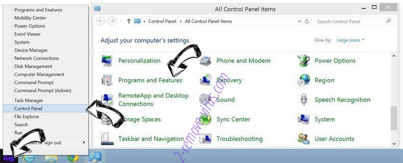 Delete adk2x.com redirect from Windows 8