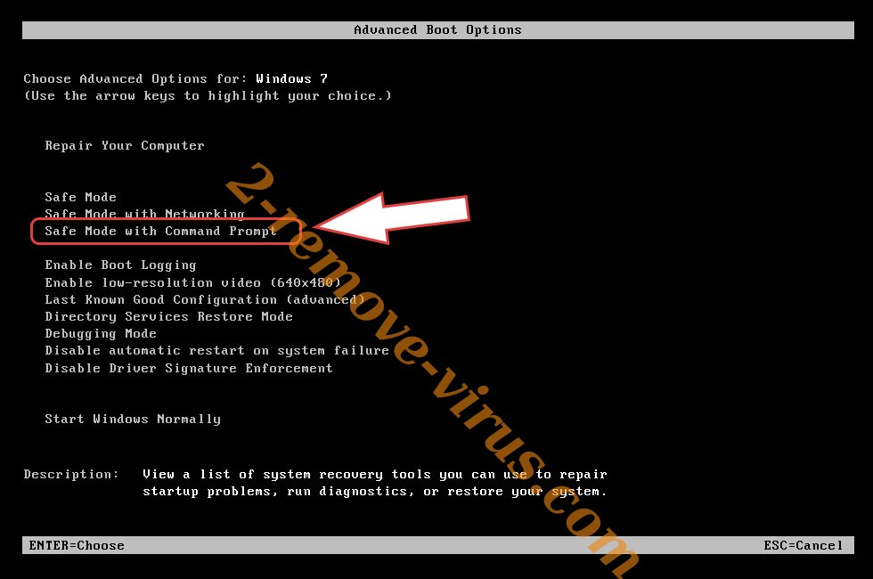 Remove shurl0ckr ransomware virus - boot options