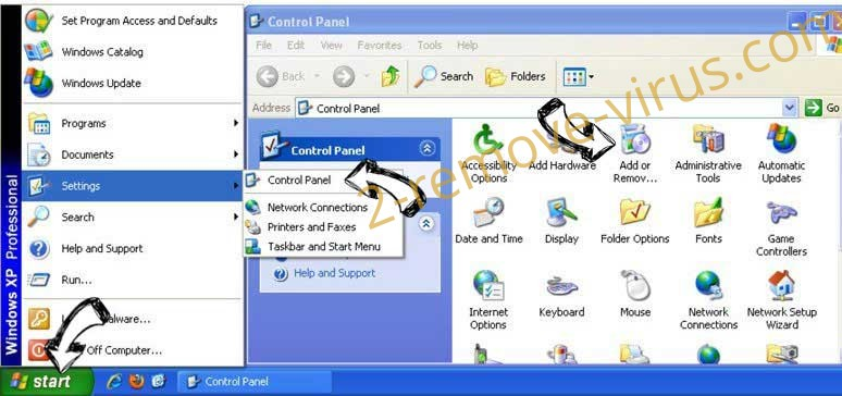 Remove Search.searchyrs.com from Windows XP