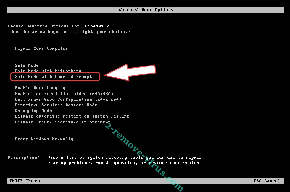 Remove VegaLocker Virus - boot options