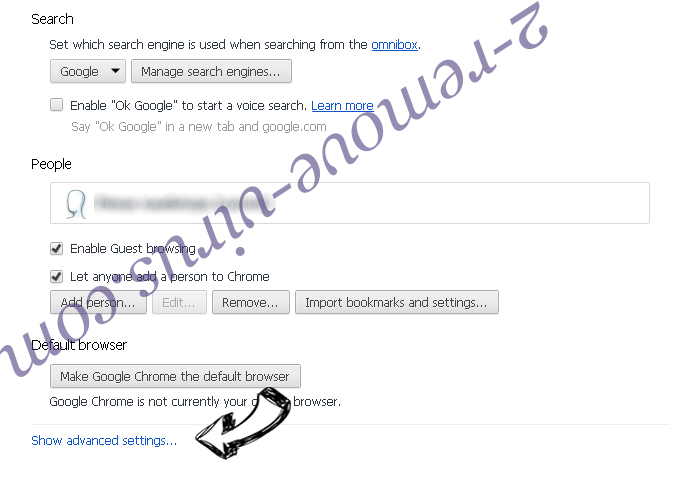 search.quebles.com Chrome settings more